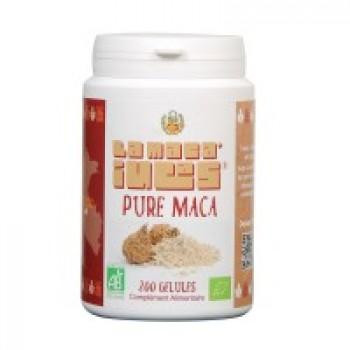 200 Gélules de Maca Bio Pure dosées a 500mg.